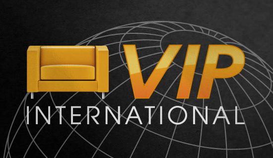 VIP International – création de logo et identité visuelle