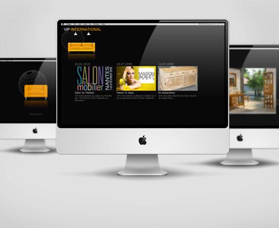 VIP International – création de site internet catalogue en flash