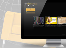 VIP International – création de site internet catalogue en flash