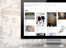 Henri Guéguen – création de site internet catalogue en ligne (portfolio)
