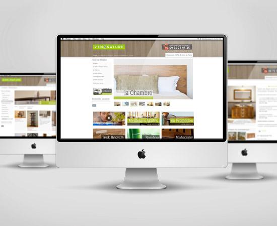 Zen & Nature – création de site internet catalogue en ligne