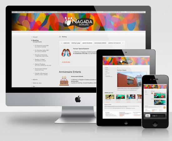 Le Nagada Bowling – création de site internet vitrine