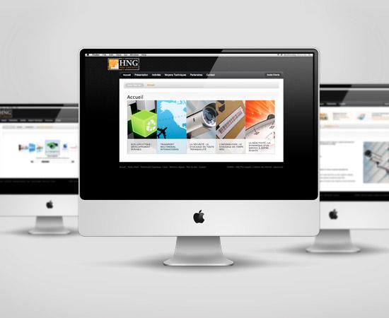 HNG Pro-Logistic – création de site internet vitrine