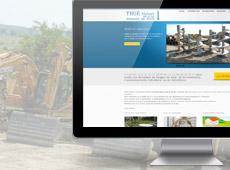 Thué Forages – création de site internet vitrine