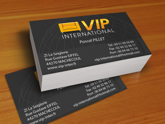 VIP International – réalisation de cartes & flyers publicitaires