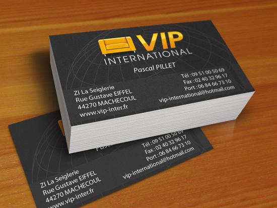 Realisation Cartes Flyers Publicitaires VIP International En