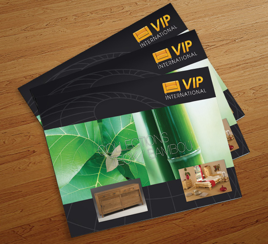 VIP International – réalisation de brochures & catalogues publicitaires