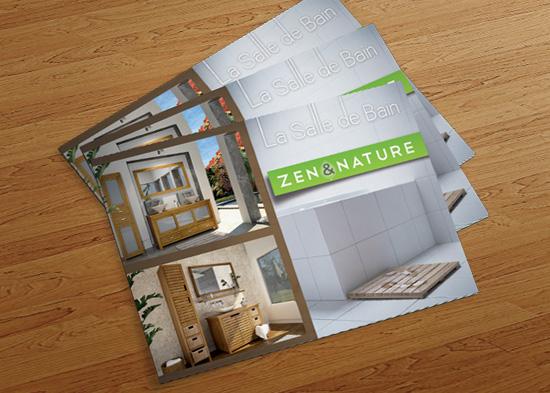 Zen & Nature – réalisation de brochures & catalogues