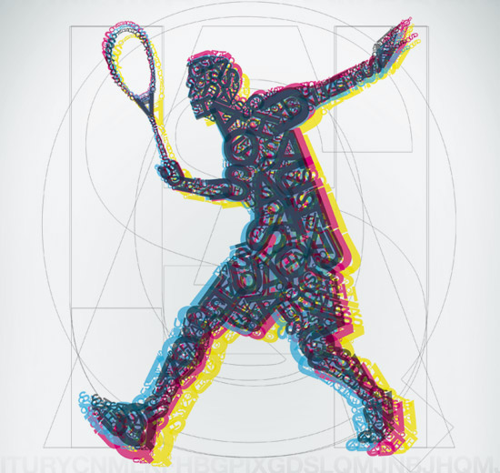 Squash Challans – réalisation de l'affiche du 2nd Open de Challans