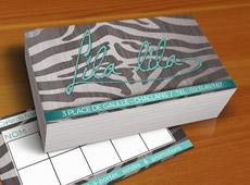 Lila Lila – réalisation de cartes de fidélité & enseigne magasin