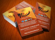Vendée IP – réalisation de cartes et plaquettes commerciales