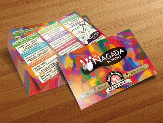 Le Nagada – réalisation de flyers publicitaires