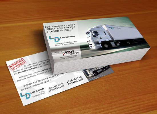 LD Location – réalisation de flyers publicitaires